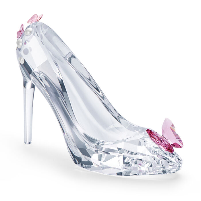 """Swarovski Crystal """"Moments"""" Shoe with Butterfly Figurine"""