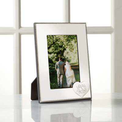 Reed & Barton Personalized Heart Picture Frame from Italy, , default