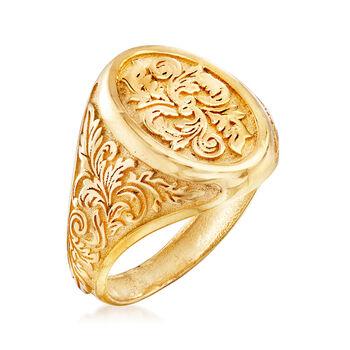Italian Signet Ring in 14kt Yellow Gold, , default