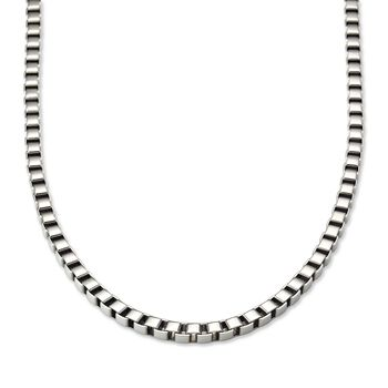"""Men's 6mm Stainless Steel Box-Link Necklace . 24"""", , default"""