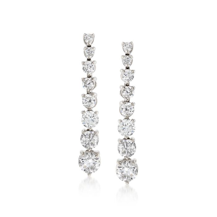 3.00 ct. t.w. Graduated Diamond Drop Earrings in 14kt White Gold , , default