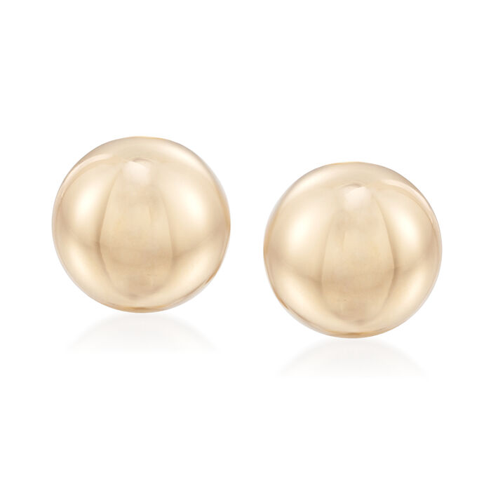 14kt Yellow Gold Dome Clip-On Earrings, , default
