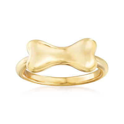 14kt Yellow Gold Dog Bone Ring