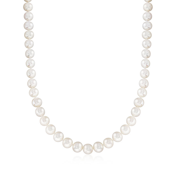 10-11mm Cultured Pearl Necklace with 14kt Yellow Gold, , default