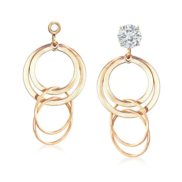 14kt Yellow Gold Multi-Circle Dangle Earring Jackets