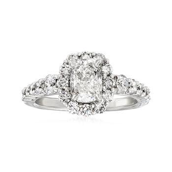 Henri Daussi 2.35 ct. t.w. Diamond Engagement Ring in 18kt White Gold, , default
