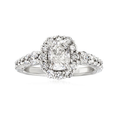 Henri Daussi 2.35 ct. t.w. Diamond Engagement Ring in 18kt White Gold, , default