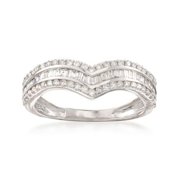 .50 ct. t.w. Diamond Chevron Ring in 14kt White Gold, , default