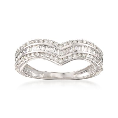 .50 ct. t.w. Diamond Chevron Ring in 14kt White Gold, , default