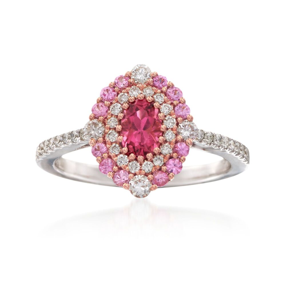 Gregg Ruth .40 Carat Rubellite and .37 ct. t.w. Diamond Ring With ...