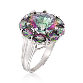11.25 ct. t.w. Multicolored Quartz Ring in Sterling Silver, , default