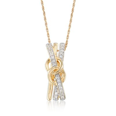 .10 ct. t.w. Diamond Crisscross Pendant Necklace, , default
