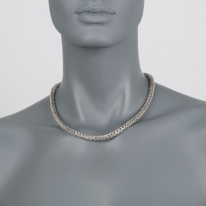 "Phillip Gavriel ""Woven"" Sterling Silver Link Necklace"