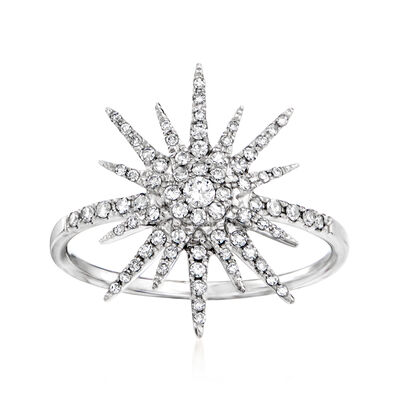 .38 ct. t.w. Diamond Starburst Ring in 14kt White Gold