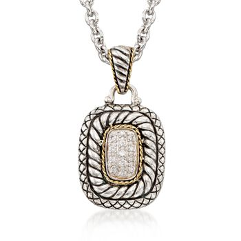 "Andrea Candela .19 ct. t.w. Diamond Necklace in 18kt Yellow Gold and Sterling Silver. 18"", , default"