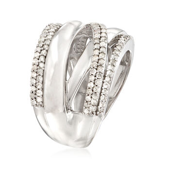 .75 ct. t.w. Diamond Highway Ring in Sterling Silver