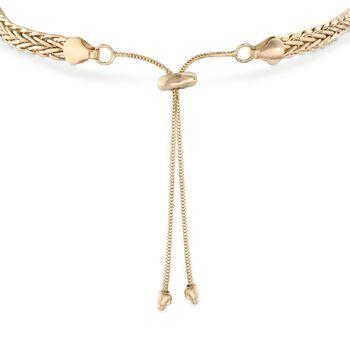 14kt Yellow Gold Wheat Chain Bolo Bracelet, , default