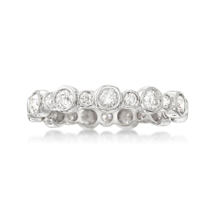 1.00 ct. t.w. Bezel-Set Diamond Eternity Band in 14kt White Gold
