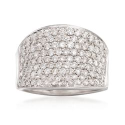 C. 1990 Vintage 2.00 ct. t.w. Diamond Ring in 18kt White Gold. Size 7.5, , default