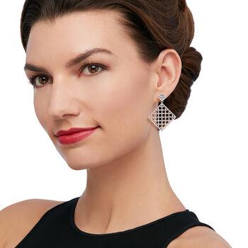 "Andrea Candela ""Cava"" Sterling Silver Openwork Drop Earrings, , default"