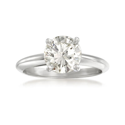 1.71 Carat Certified Diamond Solitaire Ring in 14kt White Gold, , default