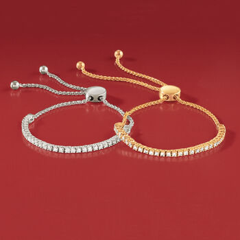 1.00 ct. t.w. Diamond Bolo Bracelet in 14kt White Gold, , default