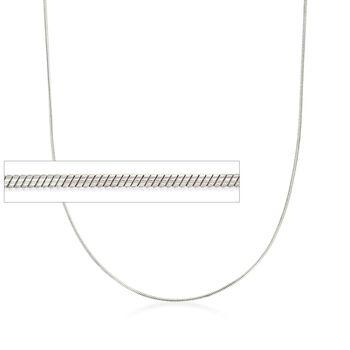 Italian 1mm Sterling Silver Adjustable Slider Snake Chain Necklace , , default