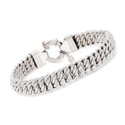 Italian Americana-Link Bracelet in Sterling Silver, , default