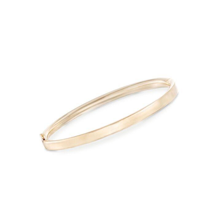 "Child's 14kt Yellow Gold Bangle Bracelet. 5.25"", , default"
