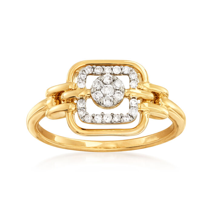 .18 ct. t.w. Diamond Cluster Ring in 14kt Yellow Gold