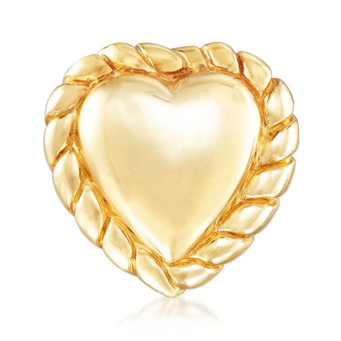 Italian 18kt Yellow Gold Heart Pin