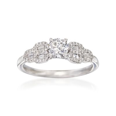 .75 ct. t.w. Diamond Engagement Ring in 14kt White Gold, , default