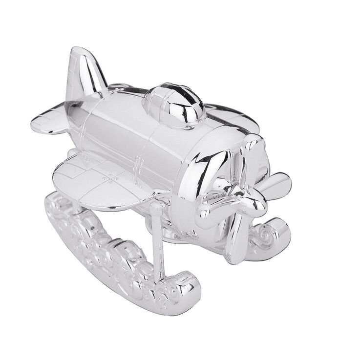 """Reed & Barton """"Zoom Zoom"""" Airplane Coin Bank, , default"""
