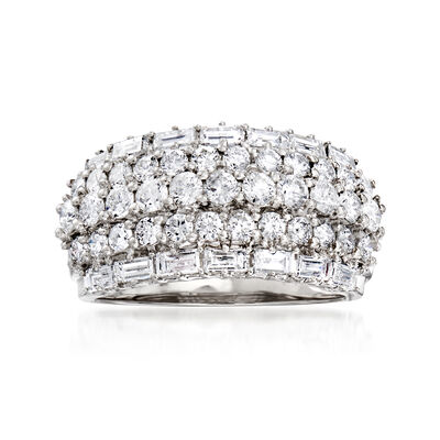 2.22 ct. t.w. Diamond Multi-Row Ring in 14kt White Gold