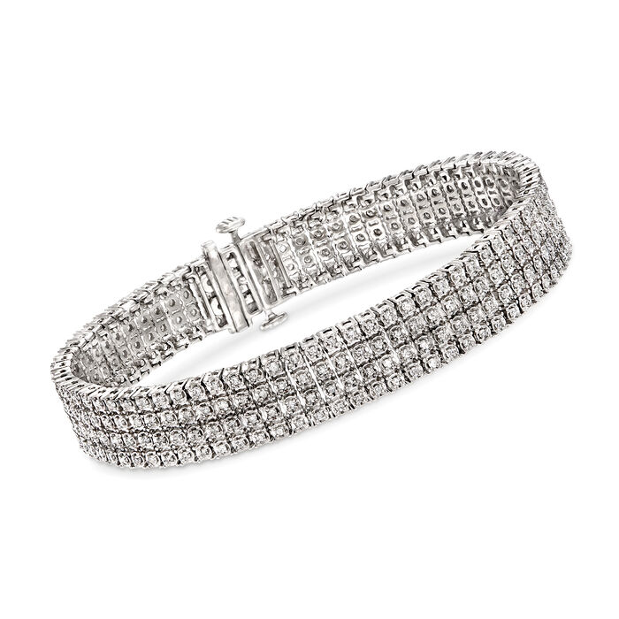 2.00 ct. t.w. Diamond Multi-Row Bracelet in Sterling Silver, , default