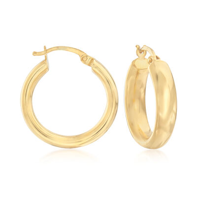22kt Yellow Gold Hoop Earrings, , default