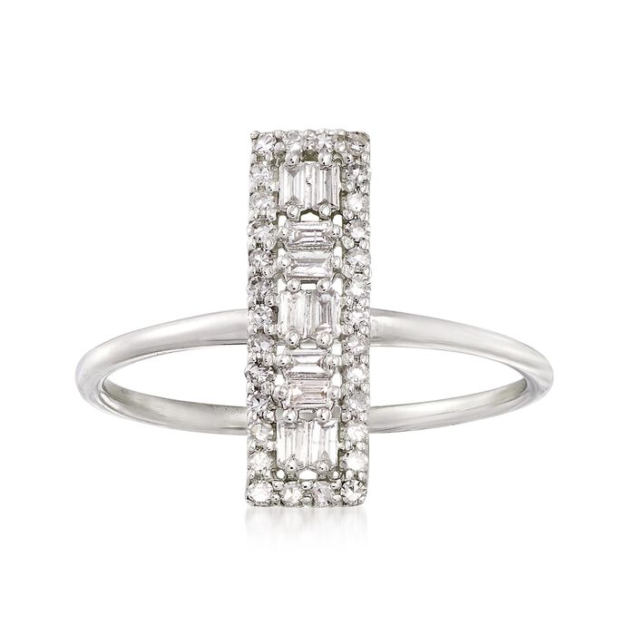 .26 ct. t.w. Diamond Bar Ring in 14kt White Gold, , default