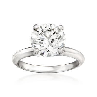 3.01 Carat Certified Diamond Engagement Ring in Platinum