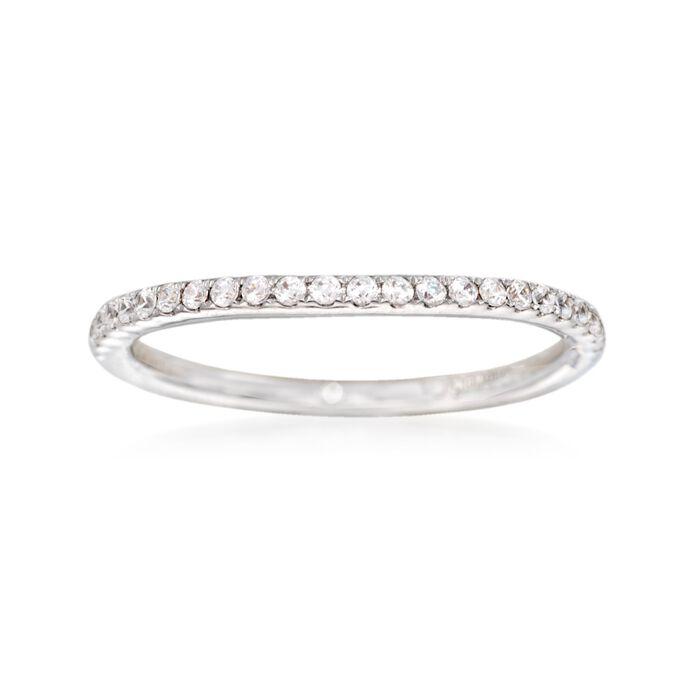 Gabriel Designs .18 ct. t.w. Diamond Wedding Ring in 14kt White Gold, , default