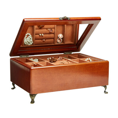 "Mele & Co. ""Kinsley"" Wooden Jewelry Box, , default"
