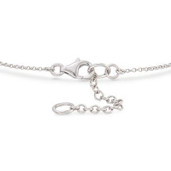 """.10 ct. t.w. Diamond Bar Bracelet in Sterling Silver. 7"""", , default"""