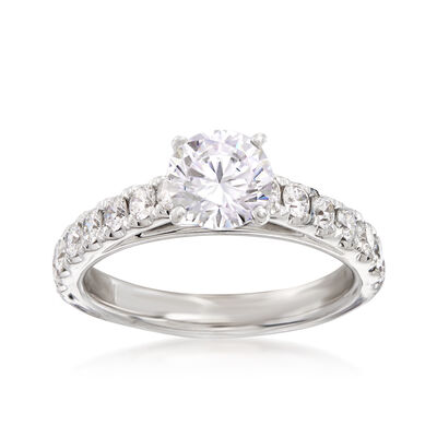 .63 ct. t.w. Diamond Engagement Ring Setting in 14kt White Gold, , default