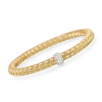 "Roberto Coin ""Primavera"" .24 ct. t.w. Diamond Bracelet in 18kt Yellow Gold. 7"", , default"
