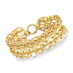 Vermeil Textured-Link Bracelet, , default