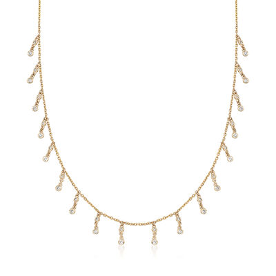 .89 ct. t.w. Diamond Drop Necklace in 14kt Yellow Gold