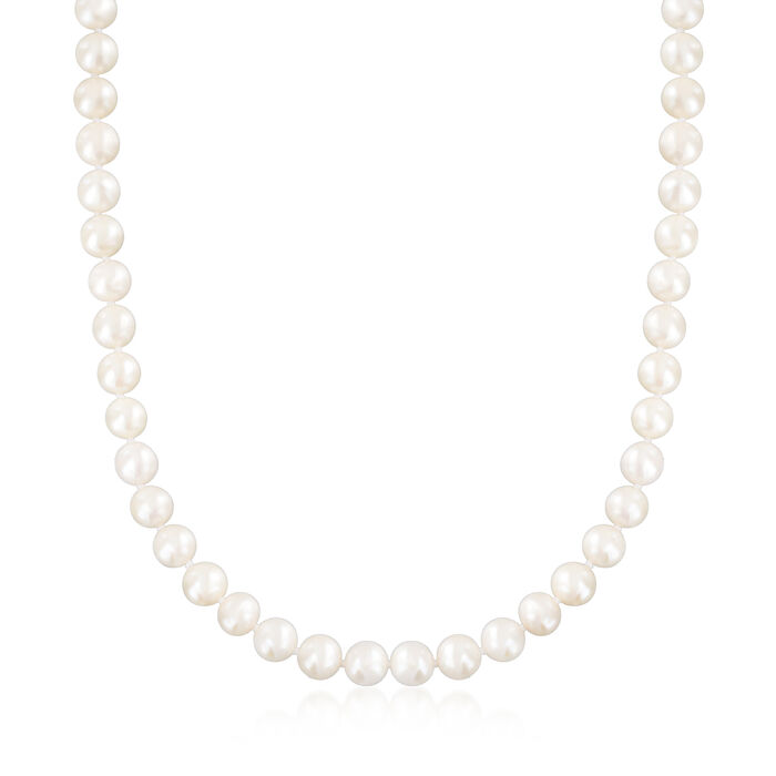 6.5-7mm Cultured Pearl Jewelry Set: Necklace, Bracelet and Stud Earrings in Sterling Silver