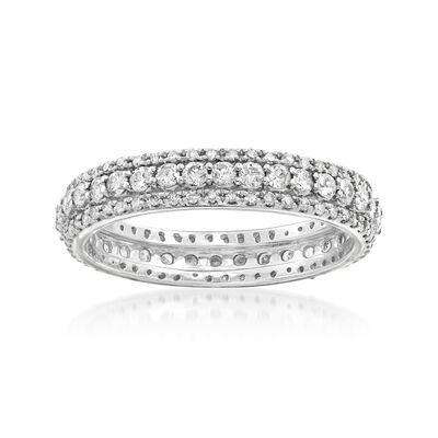1.00 ct. t.w. Diamond Multi-Row Eternity Band in 14kt White Gold, , default
