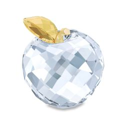 Swarovski Crystal Golden and Clear Crystal Apple Figurine, , default