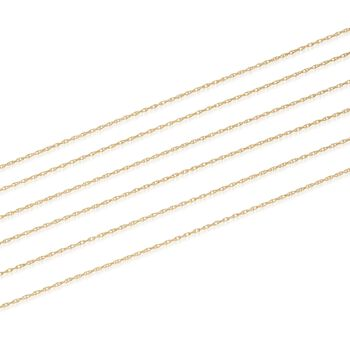Italian 18kt Yellow Gold Six-Strand Rope Chain Necklace