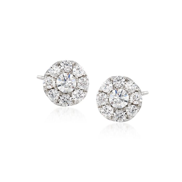 Gregg Ruth .45 ct. t.w. Diamond Stud Earrings in 18kt White Gold